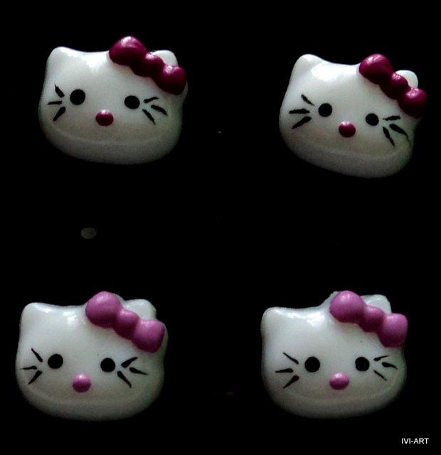 Kolczyki Hello Kitty duże