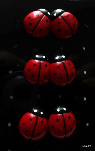 Kolczyki Biedronki duże
