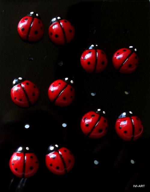 Kolczyki Biedronki małe