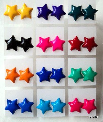 Kolczyki Małe gwiazdki