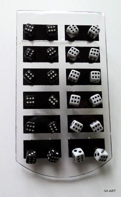 Kolczyki Kostki do gry